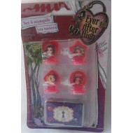 Set 4 stampile si tusiera - Ever After High